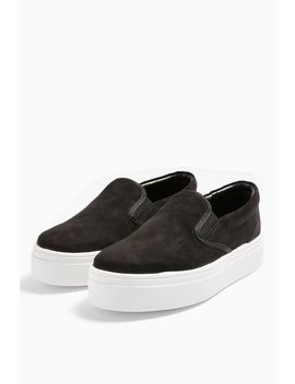 Congo Black Slip On Shoes by Topshop
