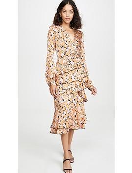 Nassau Tiered Midi Ruffle Dress by Wayf