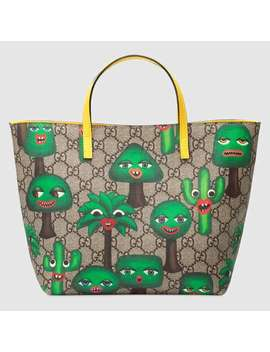 Children's Gg Smiling Plants Tote by Gucci