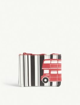 Printed Zipped Coin Purse by Red Bus