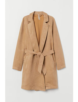 Short Coat With A Tie Belt by H&M