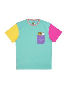 Ripndip Teddy Fresh 2.0 Color Block Tee (Multi) by Ripndip