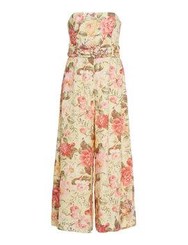 Honour Floral Print Linen Jumpsuit by Zimmermann