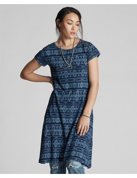 Discharge Printed Jersey Dress by Ralph Lauren