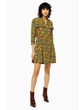 Tall Idol Agadir Paisley Pleat Mini Shirt Dress by Topshop