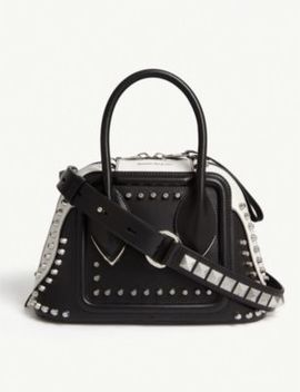 Studded Pinter Small Leather Bowling Bag by Alexander Mcqueen