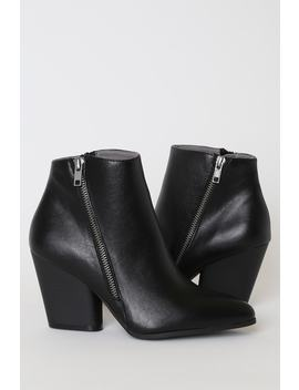 Hanston Black Pointed Toe Ankle Boots by Lulu's