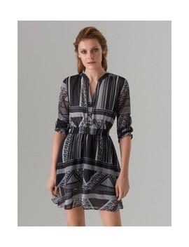 Vzorované šaty S Volánom by Mohito
