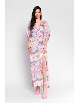 **Scarf Printed Kimono Maxi Dress By Glamorous by Topshop