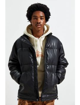 Uo Faux Leather Puffer Coat by Urban Outfitters