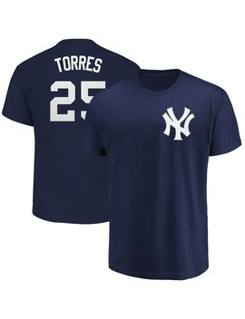 Men's New York Yankees Gleyber Torres Majestic Navy Official Name & Number T Shirt by Ml Bshop
