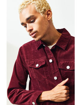 Pac Sun Red Classic Corduroy Jacket by Pacsun