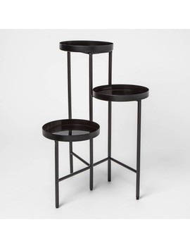 """27"""" X 19.2"""" 3 Tier Metal Planter Stand Black   Project 62™ by Project 62"""