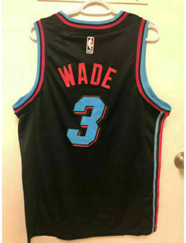 Unisex Miami Heat #3 Dwyane Wade Basketball Stitched Swingman Jersey White S 2 Xl by Ebay Seller