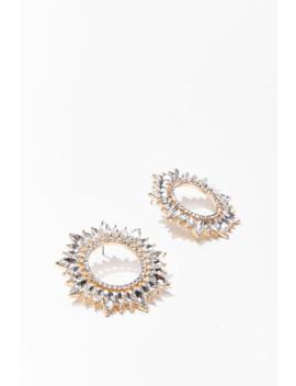 Rhinestone Sun Drop Earrings by Forever 21