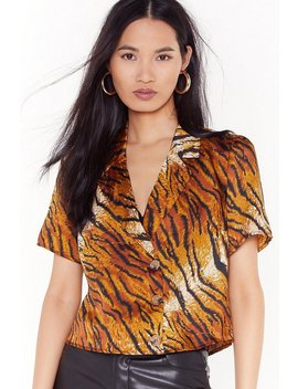 Tiger Tiger Cropped Shirt by Nasty Gal