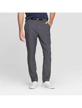 Men's Tapered Clip Belt Performance Pants   Goodfellow & Co™ Zodiac Night by Goodfellow & Co