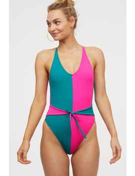Badeanzug Mit Bindebändern by H&M