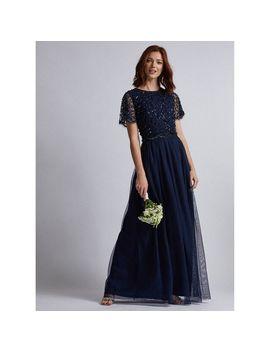Showcase Tall Navy Tina Maxi Dress by Dorothy Perkins