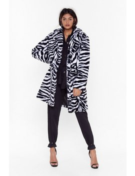 Unleash The Tiger Faux Fur Longline Coat by Nasty Gal