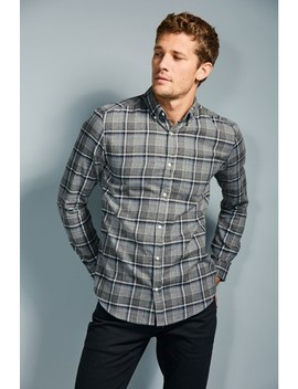 Brushed Flannel Check Long Sleeve Shirt by Next