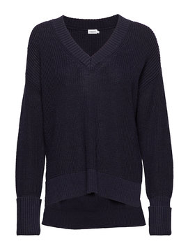 Cotton Linen V Neck Sweater by Filippa K