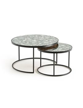 Lipstick Nested Glass & Steel Coffee Tables (Set Of 2) by La Redoute Interieurs