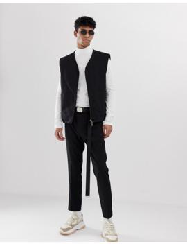 Weekday  – Ted – Weißer, Gerippter Pullover Mit Stehkragen by Asos