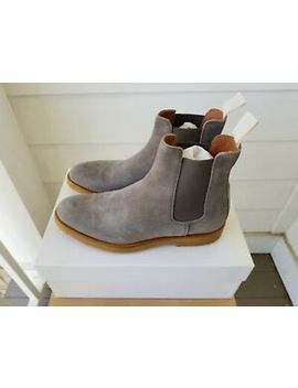 $530 New Men's Common Projects Suede Chelsea Boots In Grey    40 Eu | 7 Us by Common Projects
