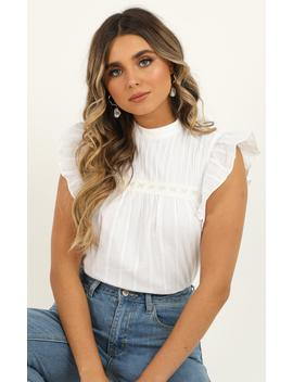 Like Its Yours Top In White Linen Look by Showpo Fashion