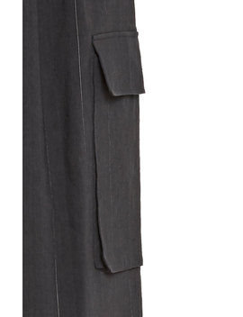 Isselin Stripe Pleated Cargo Pant by Tibi