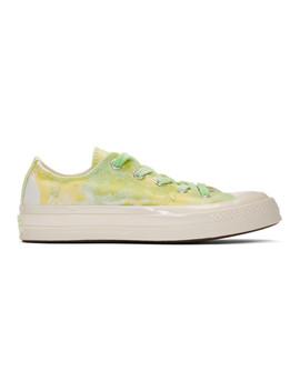 Green Tie Dye Chuck 70 Low Sneakers by Converse
