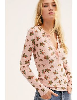 One Of The Girls Printed Henley by Free People