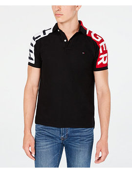 Men's Custom Fit Ronny Colorblocked Logo Sleeve Polo Shirt by General