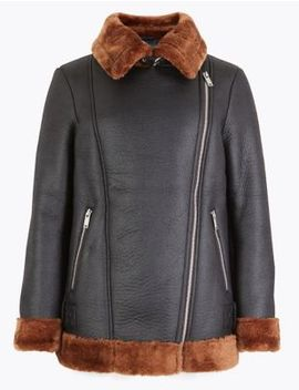 Petite Aviator Jacket by Marks & Spencer