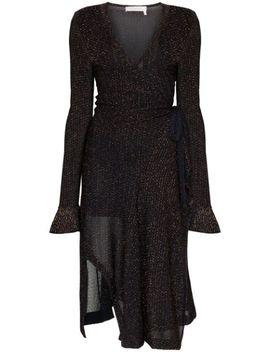 Lurex Knit Wrap Dress by Chloé