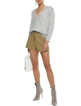 Ifola Belted Linen And Cotton Blend Shorts by Iro