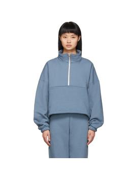 Blue Diana Half Zip Sweatshirt by Gil Rodriguez