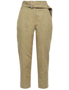 Infelasa Cropped Linen And Cotton Blend Tapered Pants by Iro