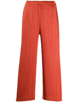 Cropped Length Pleated Trousers by Pleats Please Issey Miyake