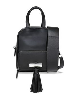 Sailor Tasseled Glossed And Textured Leather Shoulder Bag by Kenzo