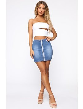 Zip Me Away Mini Skirt   Blue by Fashion Nova