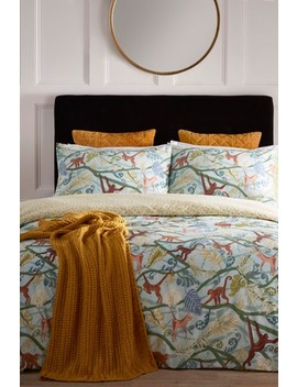 Riva Home Monkey Tropical Duvet Cover And Pillowcase Set by Next