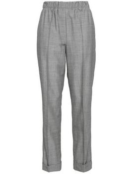 Wool And Mohair Blend Straight Leg Pants by Helmut Lang