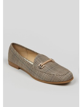 Check Snaffle Loafers by Matalan
