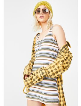 Towel Stripe Dress by Why Not Us