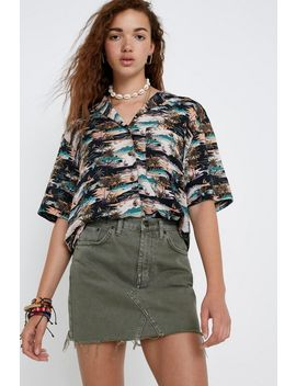 Uo Palm Tree Button Down Shirt by Urban Outfitters