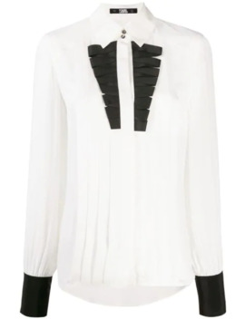 Pleated Style Shirt by Karl Lagerfeld