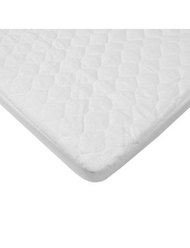 American Baby Company Waterproof Fitted Quilted Portable/Mini Crib Mattress Pad Cover, White by American Baby Company