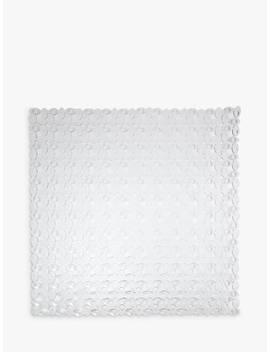 John Lewis & Partners Pebbles Square Shower Mat, Clear by John Lewis & Partners